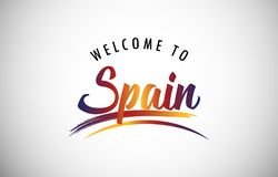 Welcome to Spain stock image
