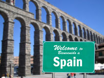 Welcome to Spain sign Stock Photos