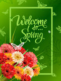 Welcome To Spring Lettering Royalty Free Stock Image