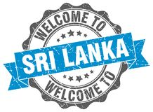Welcome to Sri Lanka seal. Welcome to Sri Lanka round vintage seal Stock Images