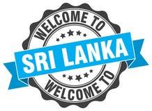 Welcome to Sri Lanka seal. Welcome to Sri Lanka round vintage seal Royalty Free Stock Photos