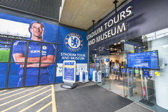 Welcome to Stamford Bridge Stadium Stock Image