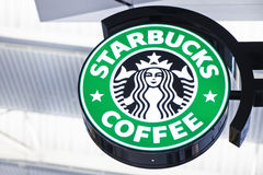 Welcome to Starbucks Royalty Free Stock Images