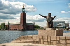 Welcome to Stockholm Royalty Free Stock Photography
