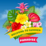 Welcome to summer paradise Stock Photography
