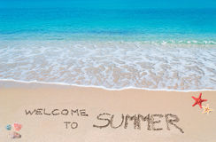 Welcome to summer Royalty Free Stock Photos