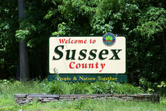 Welcome to Sussex county, NJ Stock Images