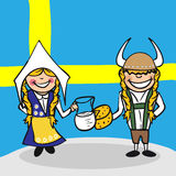 Welcome to Sweden people Stock Photography