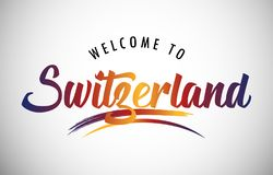 Welcome to Switzerland royalty free stock photo