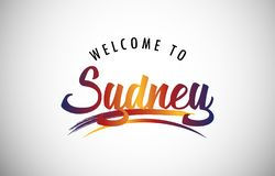 Welcome to Sydney royalty free stock photo