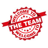 Welcome to the team stamp Stock Photos