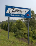 Welcome to Tennessee. A welcome sign at the Tennessee state line Stock Photo