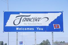 Welcome to Tennessee Sign Stock Photo