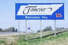 Welcome to Tennessee Sign Royalty Free Stock Photo