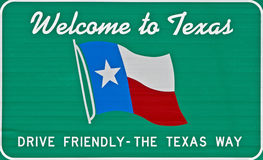 Welcome to Texas. A closeup of the Welcome to Texas sign Stock Image