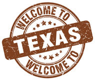 Welcome to Texas brown round stamp Royalty Free Stock Photography