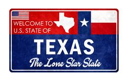 Welcome to Texas royalty free illustration
