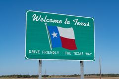 Welcome to Texas Sign royalty free stock photo