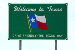 Welcome to Texas  sign Royalty Free Stock Photography