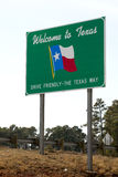 Welcome to Texas  sign Stock Image