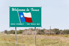 Welcome to Texas. A welcome sign at the Texas state line royalty free stock image