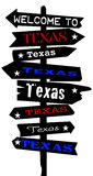 Welcome To Texas Signpost Silhouette Stock Photography