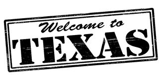 Welcome to Texas. Stamp with text welcome to Texas inside,  illustration Stock Photos