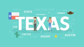 Welcome to Texas. Visit north american culture Stock Photography