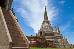 Welcome to Thailand. Ancient temple located in Ayutthaya province,Thailand Royalty Free Stock Images