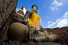 Welcome to Thailand. Buddha statue in the Thai temple Royalty Free Stock Photos