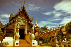 Welcome to Thailand. Thai temple located in Chiang Mai province,Thailand Royalty Free Stock Photography