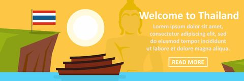Welcome to thailand banner horizontal concept Stock Images