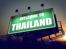 Welcome to Thailand Billboard at Sunrise. Stock Photos