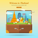 Welcome to Thailand Flat Style Vector Web Banner Stock Photo