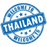 Welcome to Thailand vector stamp royalty free stock image