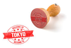 Welcome to Tokyo. A rubber stamp on a white background - Welcome to Tokyo Stock Image