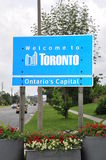 Welcome to Toronto sign Stock Photography
