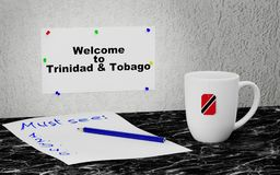 Welcome to Trinidad and Tobago Stock Photo