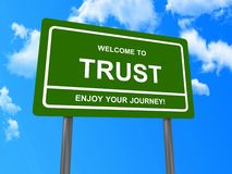 Welcome to trust sign Stock Images