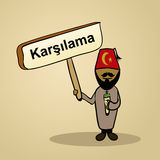 Welcome to Turkey people design Stock Photo