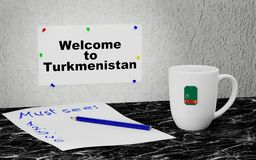Welcome to Turkmenistan Royalty Free Stock Images