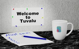 Welcome to Tuvalu Stock Image
