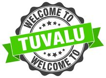 Welcome to Tuvalu seal. Welcome to Tuvalu round vintage seal Stock Photos