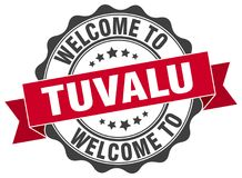 Welcome to Tuvalu seal. Welcome to Tuvalu round vintage seal Royalty Free Stock Image