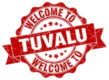 Welcome to Tuvalu seal. Welcome to Tuvalu round vintage seal Royalty Free Stock Photo