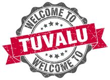 Welcome to Tuvalu seal. Welcome to Tuvalu round vintage seal Stock Photography