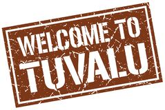 Welcome to Tuvalu stamp. Welcome to Tuvalu square grunge stamp Stock Photos