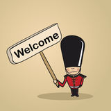 Welcome to UK people design Royalty Free Stock Image