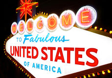 Welcome to United States of America Stock Image