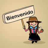 Welcome to Uruguay people design vector illustration